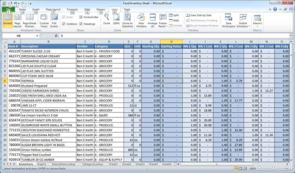 Bookkeeping Excel Spreadsheet Template Free