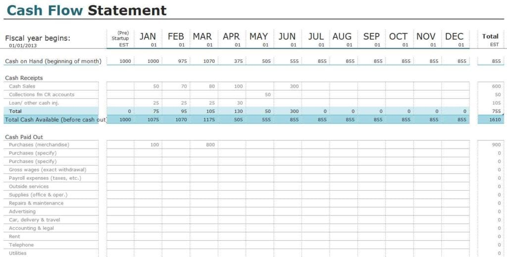 Budget Spreadsheet Template Uk 1