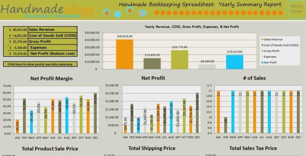Business Bookkeeping Spreadsheet Template