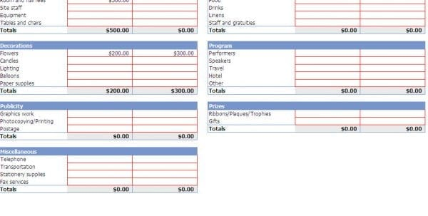 Business Expense Tracking Spreadsheet Template