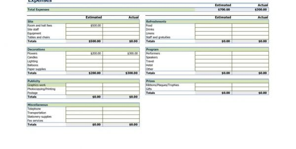 Business Tax Spreadsheet Templates