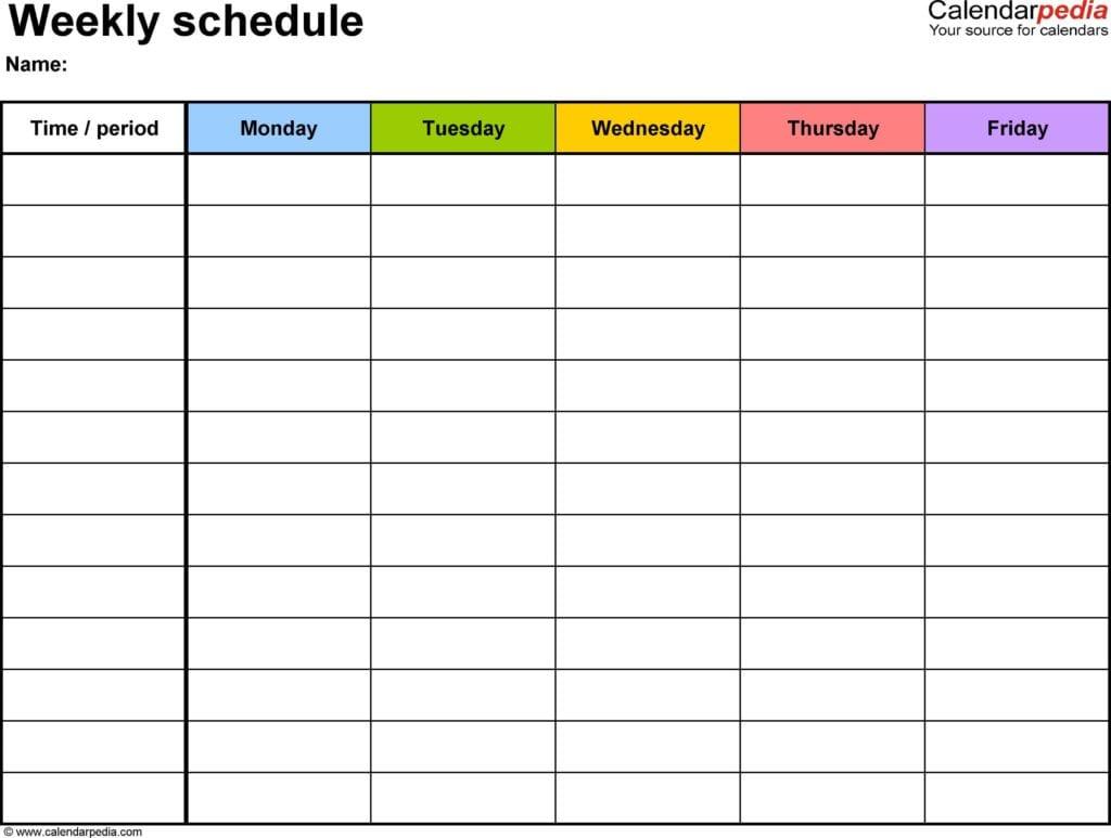 Calendar Templates For Mac