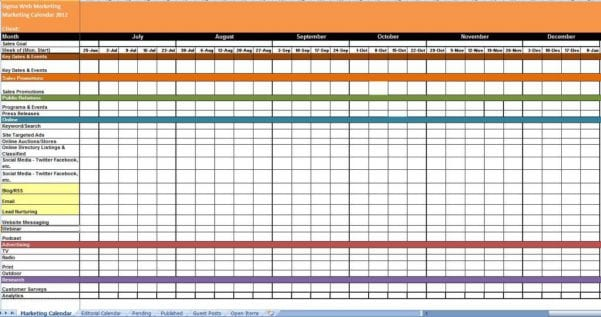 Calendar Templates For Powerpoint