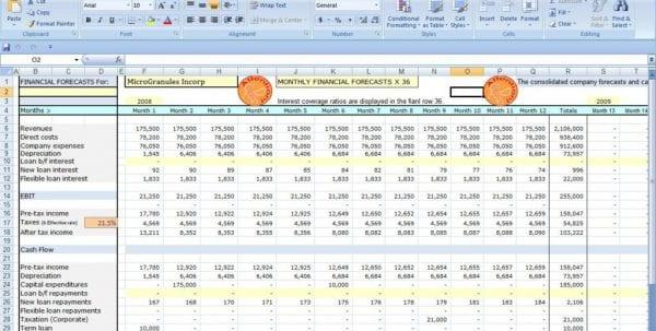 Cash Flow Template Excel Microsoft