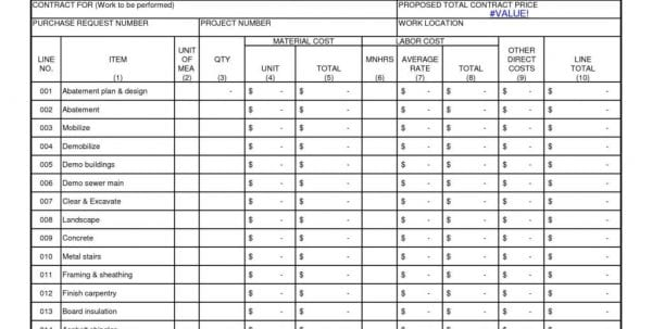 Construction Estimating Spreadsheet Template Estimating Spreadsheet Template Spreadsheet Templates for Business
