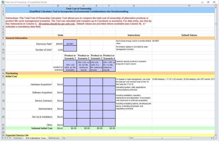 Construction Job Cost Spreadsheet Template