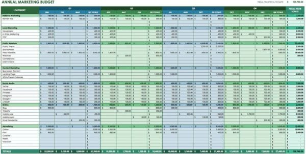 Cost Comparison Spreadsheet Template