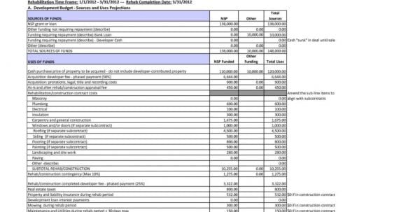 Cost Savings Spreadsheet Template