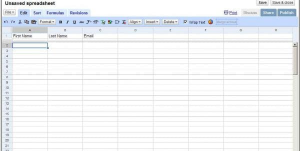 Create A Google Spreadsheet Form