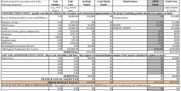 Data Center Cost Model Spreadsheet