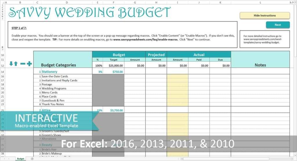 Easy Wedding Guest List Spreadsheet