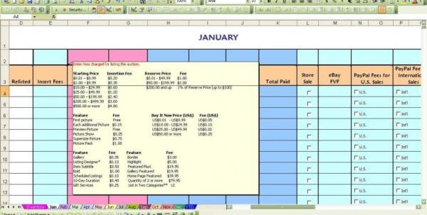 Ebay Accounting Spreadsheet1