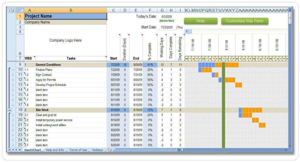 Estimating Spreadsheet Template