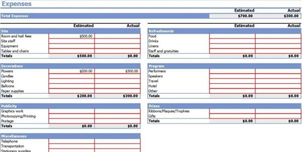 Event Budget Calculator Event Budget Spreadsheet Template Budget Spreadsheet, Spreadsheet Templates for Business