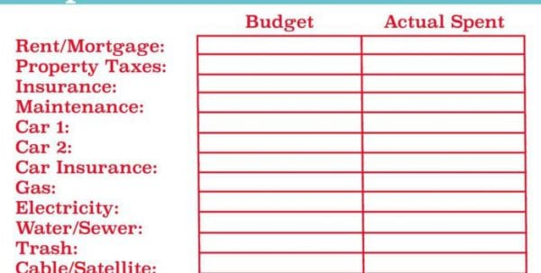 Event Budget Worksheet