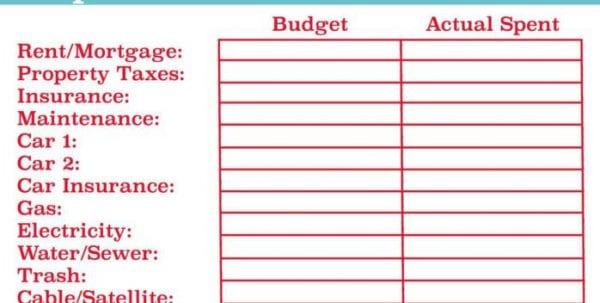 Event Budget Worksheet