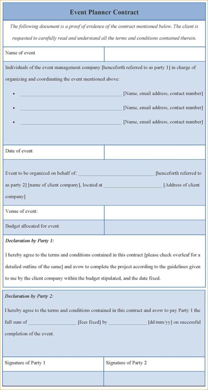 Event Planning Agenda Template