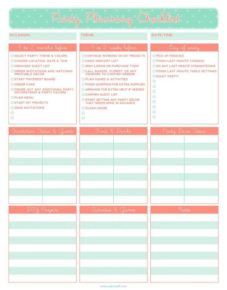 Event Planning Checklist Template Microsoft