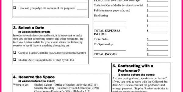 Event Planning Spreadsheet Free