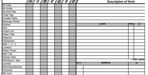 Excavation Estimating Spreadsheet
