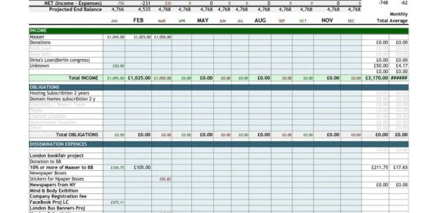 Excel Budget Spreadsheet