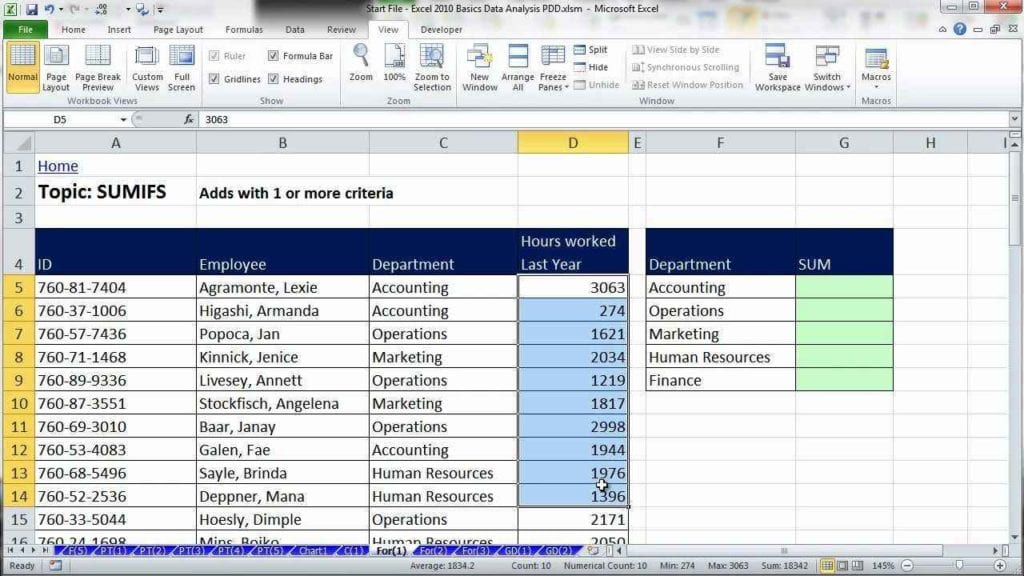 Excel Data Sheet Template