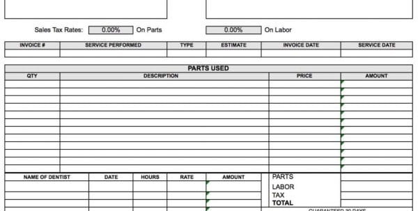 Excel Invoice Template Uk Free