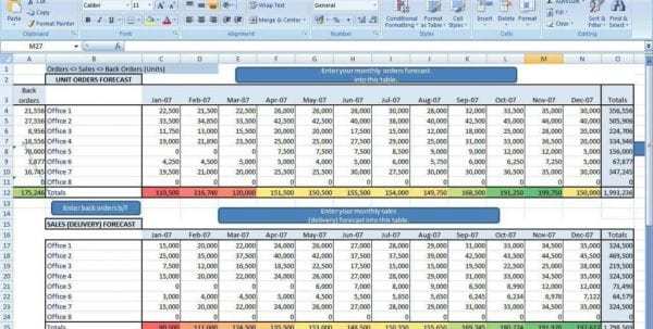Excel Spreadsheet Budget Example