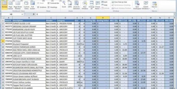 Excel Spreadsheet Formula List