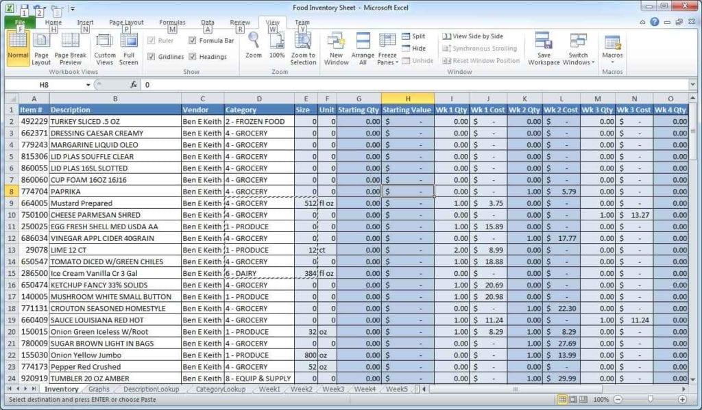 ms excel formulas list