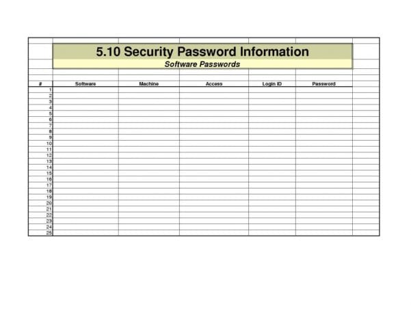 Excel Spreadsheet Password Recovery