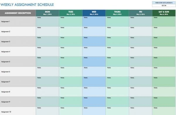 Excel Spreadsheet Template For Employee Schedule