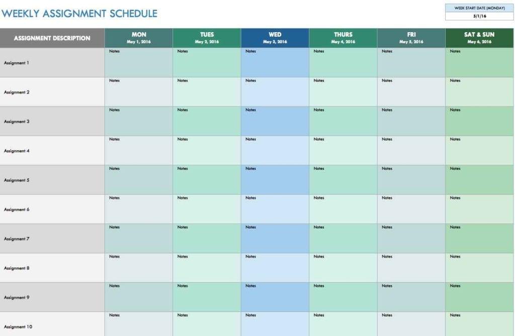 Excel Spreadsheet Template For Employee Schedule