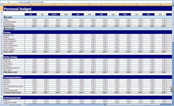 Excel Spreadsheet Template For Inventory