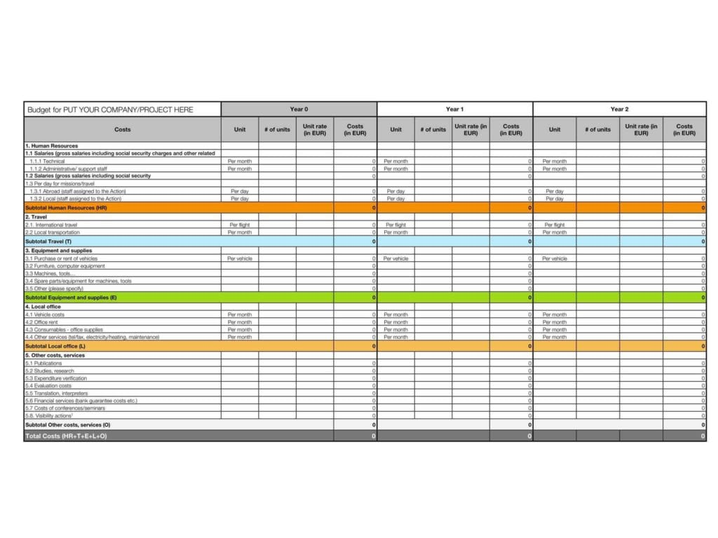 Excel Spreadsheet Template For Medical Expenses 1