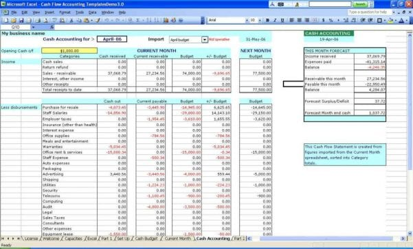 Excel Spreadsheet Template For Small Business1