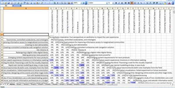 Excel Spreadsheet With Data