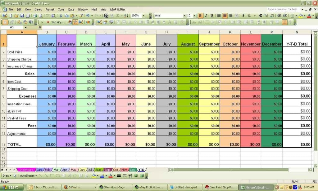 Excel Spreadsheets Templates For Small Business 1