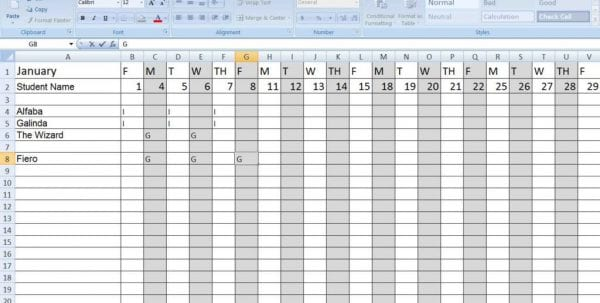 Excel Survey Spreadsheet Template