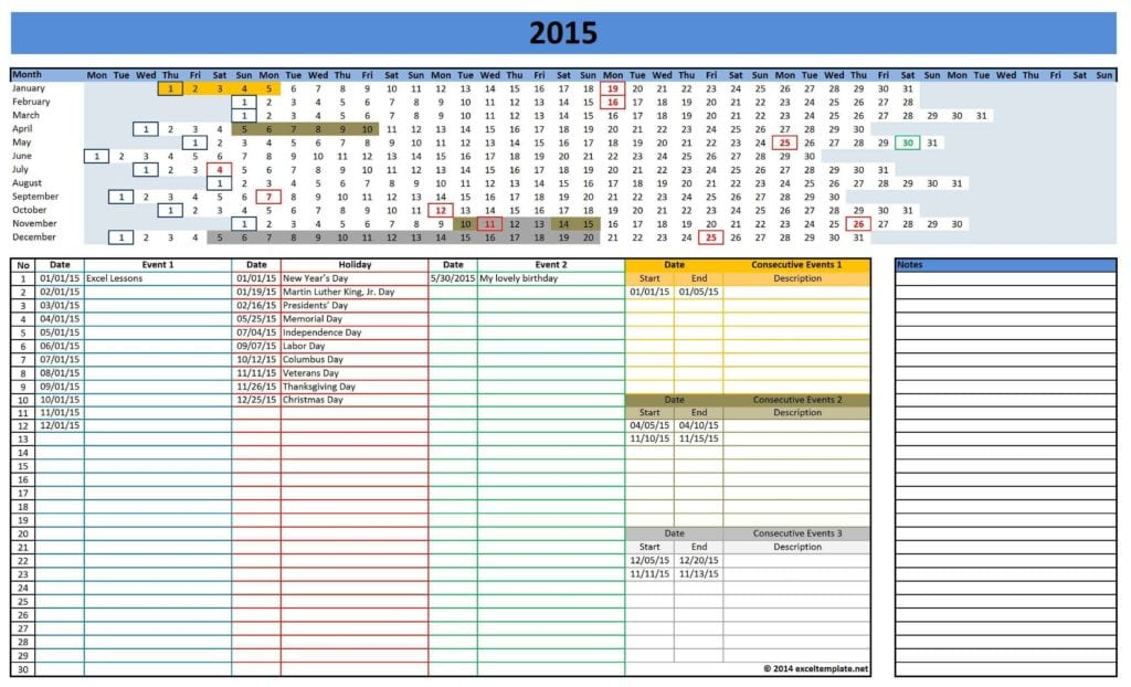 Excel Template For Construction Schedule