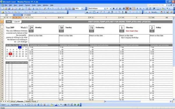 Excel Templates For Scheduling Employees