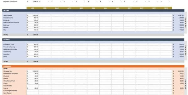 Expense Tracking Spreadsheet