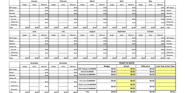 Expense Tracking Spreadsheet Template