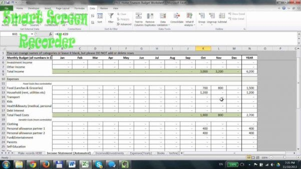 Family Budget Spreadsheet Family Budget Spreadsheet Budget Spreadsheet Spreadsheet Templates for Busines