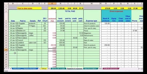 Free Accounting Spreadsheet Template Australia