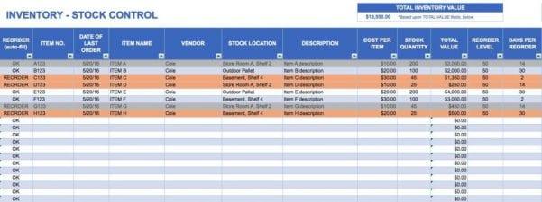 Free Bar Inventory Spreadsheet
