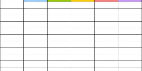 Free Blank Excel Spreadsheet Templates