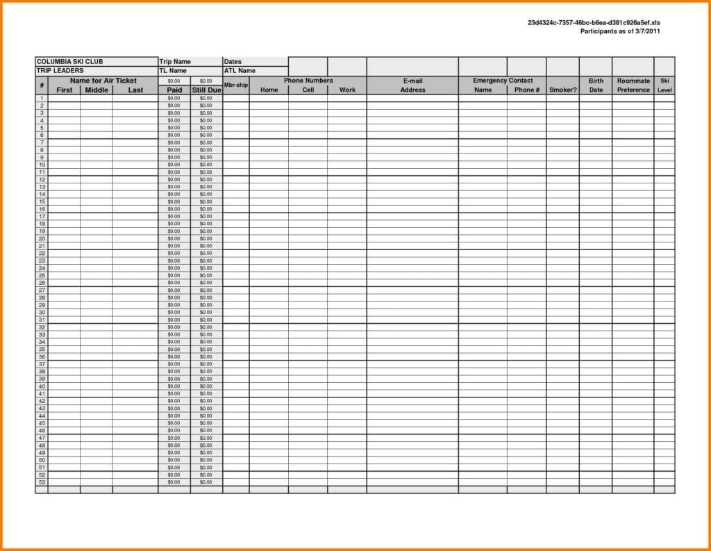 Free Excel Spreadsheet Templates Bookkeeping 1