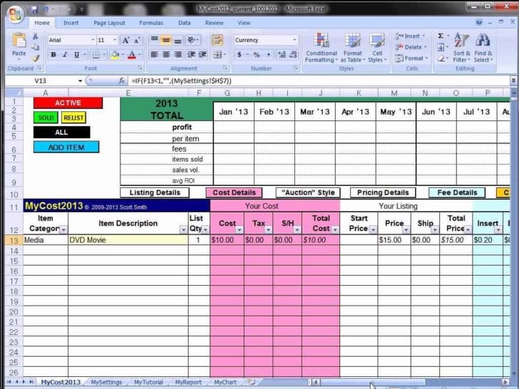 Free Excel Spreadsheet Templates Inventory 1