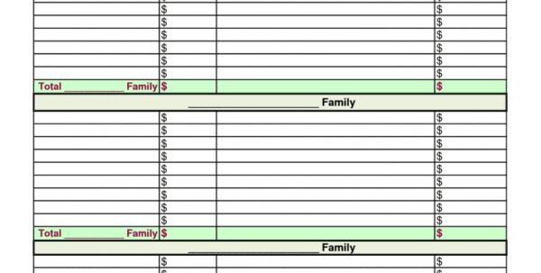 Free Family Monthly Budget Planner Template